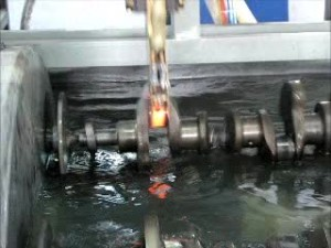 Induction Crack shaft hardening