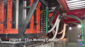 Induction melting furnace for steel