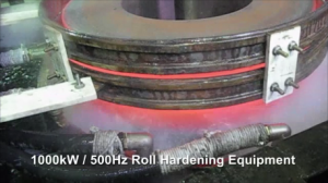 Induction heating for roll hardening