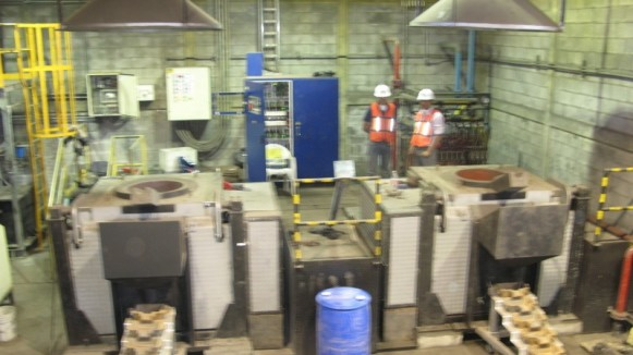 induction furnace for silver melting