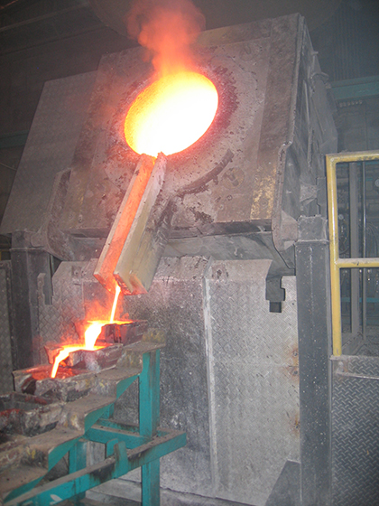 Induction furnace for metal casting