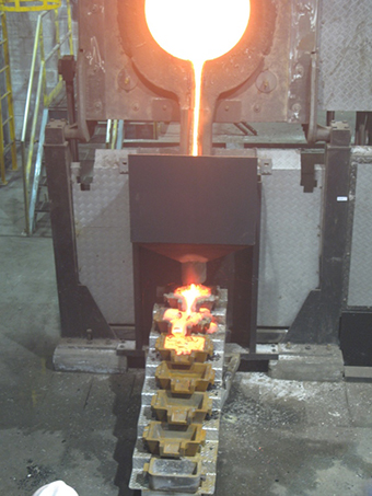 Advance induction melting furnace for mining industry